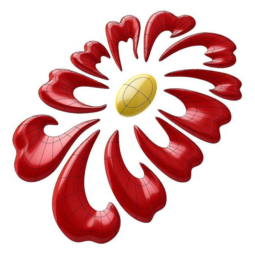 Floral Decorative Designs Floral Decorative 3d