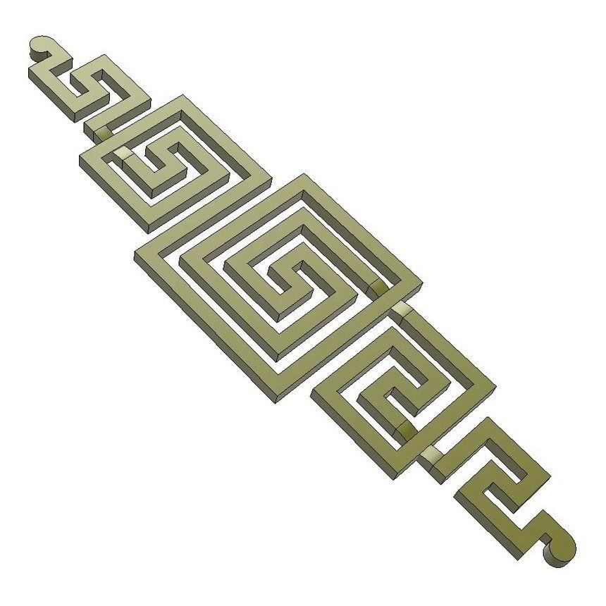 horizontal 3d fret design
