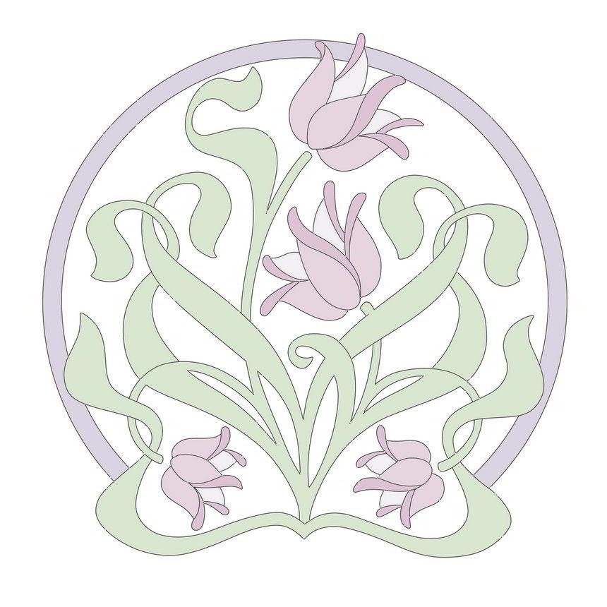 Art Nouveau flowers