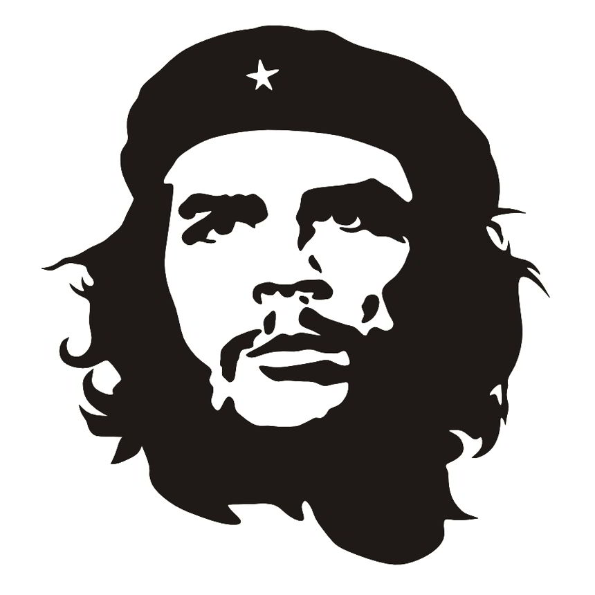 Ernesto che guevara vector portrait black and white