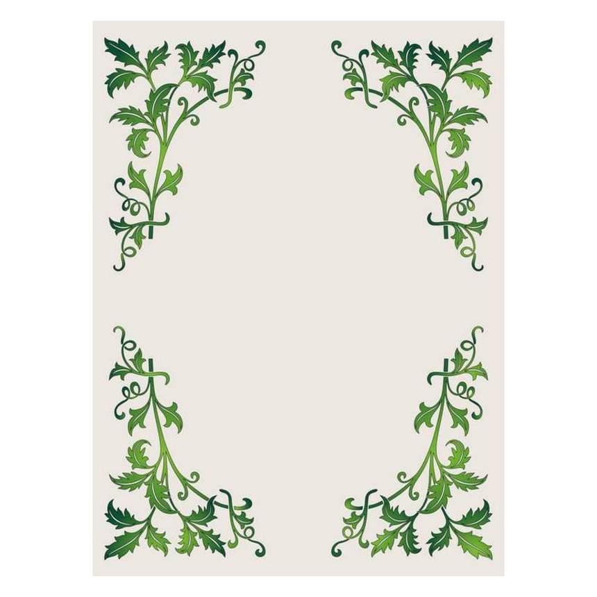 green leaves border vector