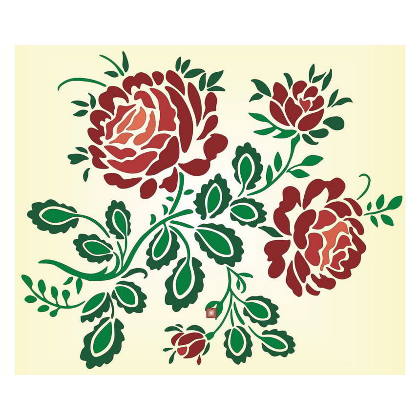 Rose pattern on this page you can download rose pattern drawn in stencil technique the pattern is simple presenting the image of a few rose flowers buds thecheapjerseys Choice Image