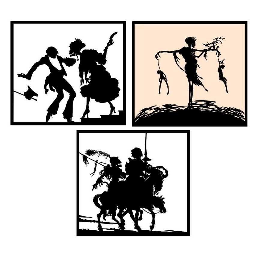 Danse macabre silhouettes