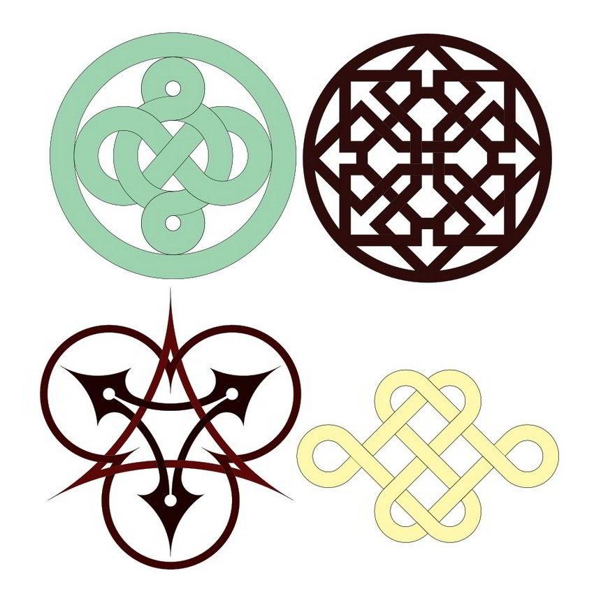 Interlace geometric designs