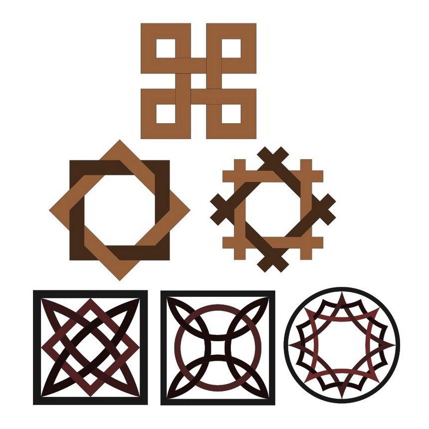 Interlace geometric patterns