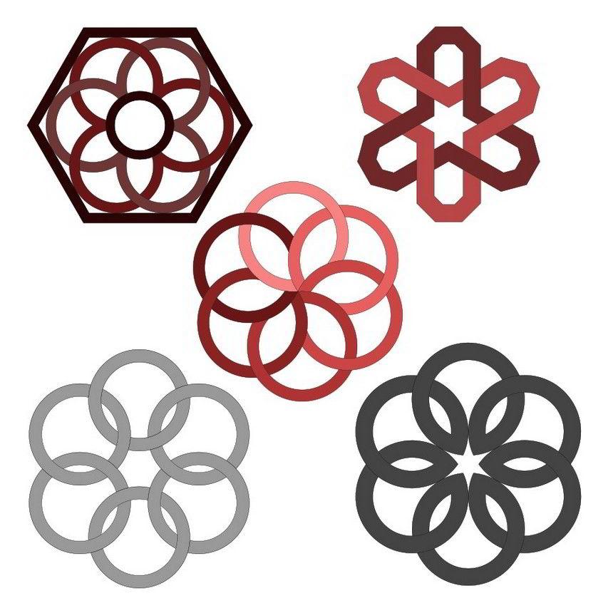 Interlace hexafoil patterns