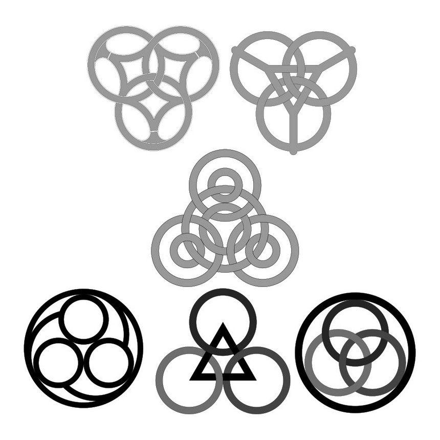 Interlace trefoil patterns