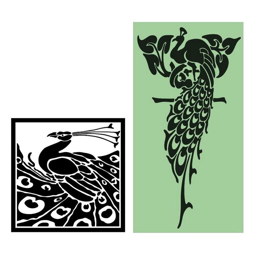Peacock stencil designs