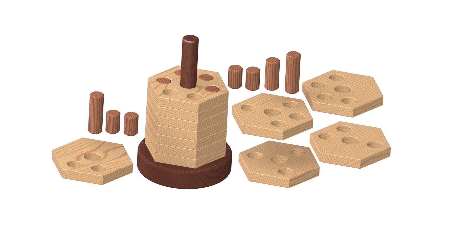 3d Wooden Puzzles Plans Wooden Stacker Puzzle Plan 2