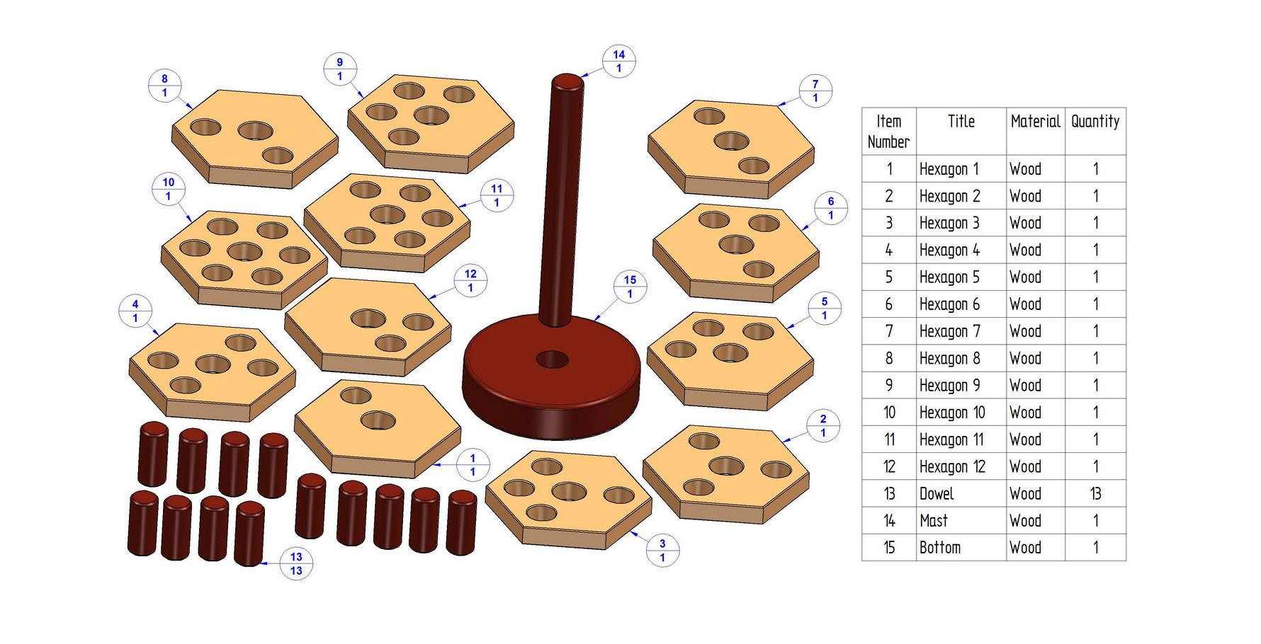 3d Wooden Puzzles Plans Wooden Stacker Puzzle Plan 3