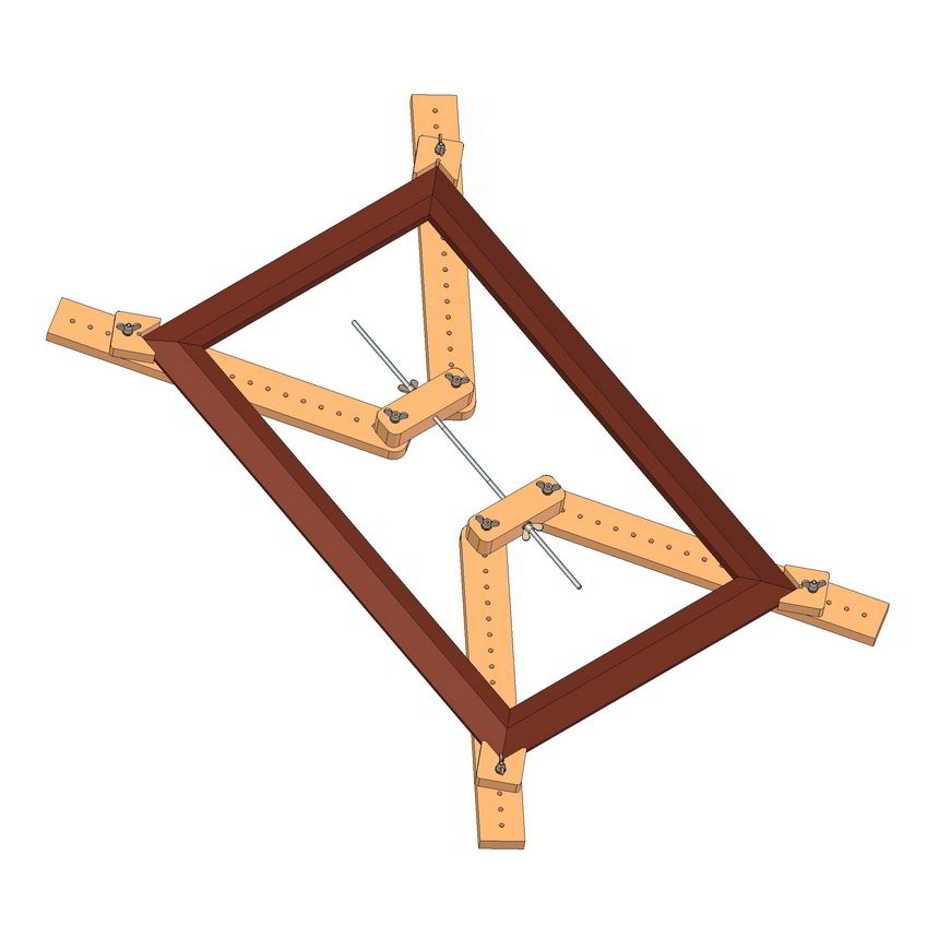adjustable 4 corner framing clamp plan