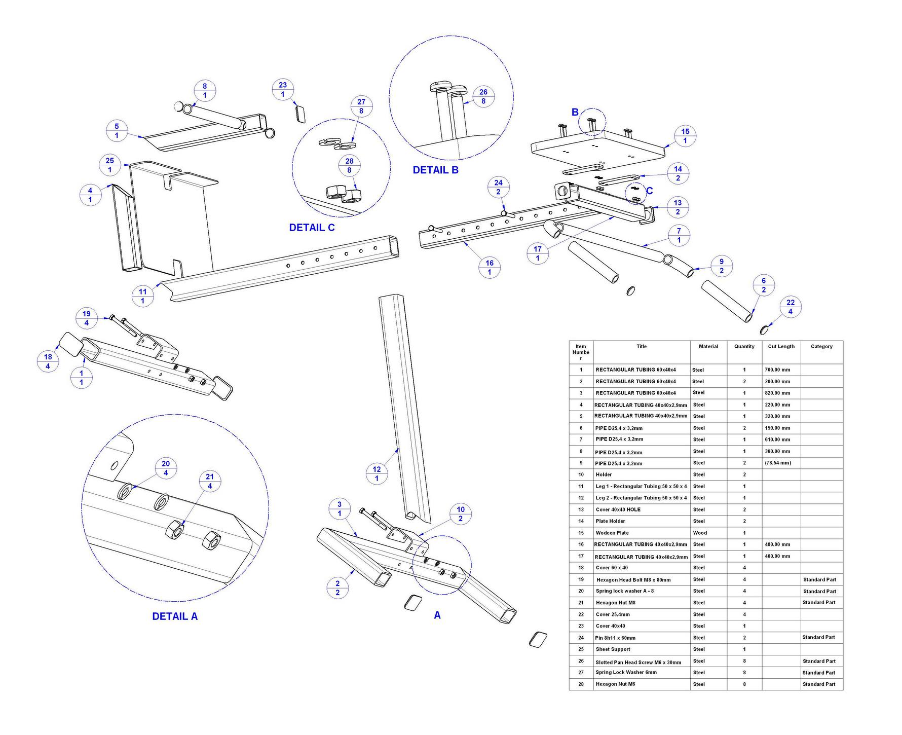 Back Extension Bench Plan