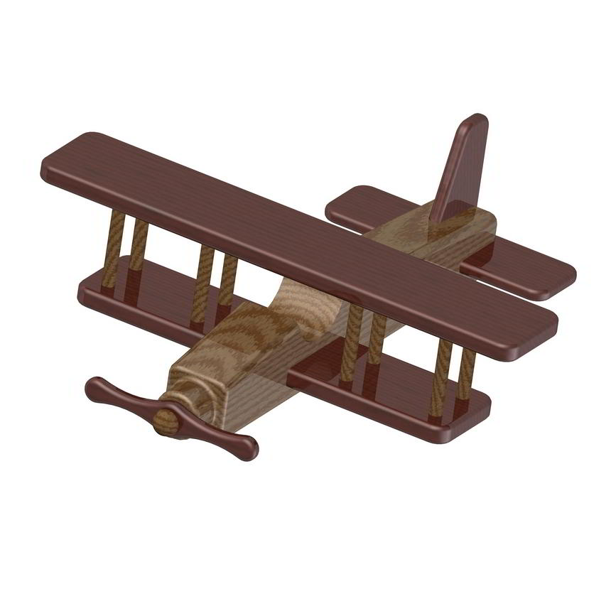 Biplane kids toy plan for Blueprints for kids