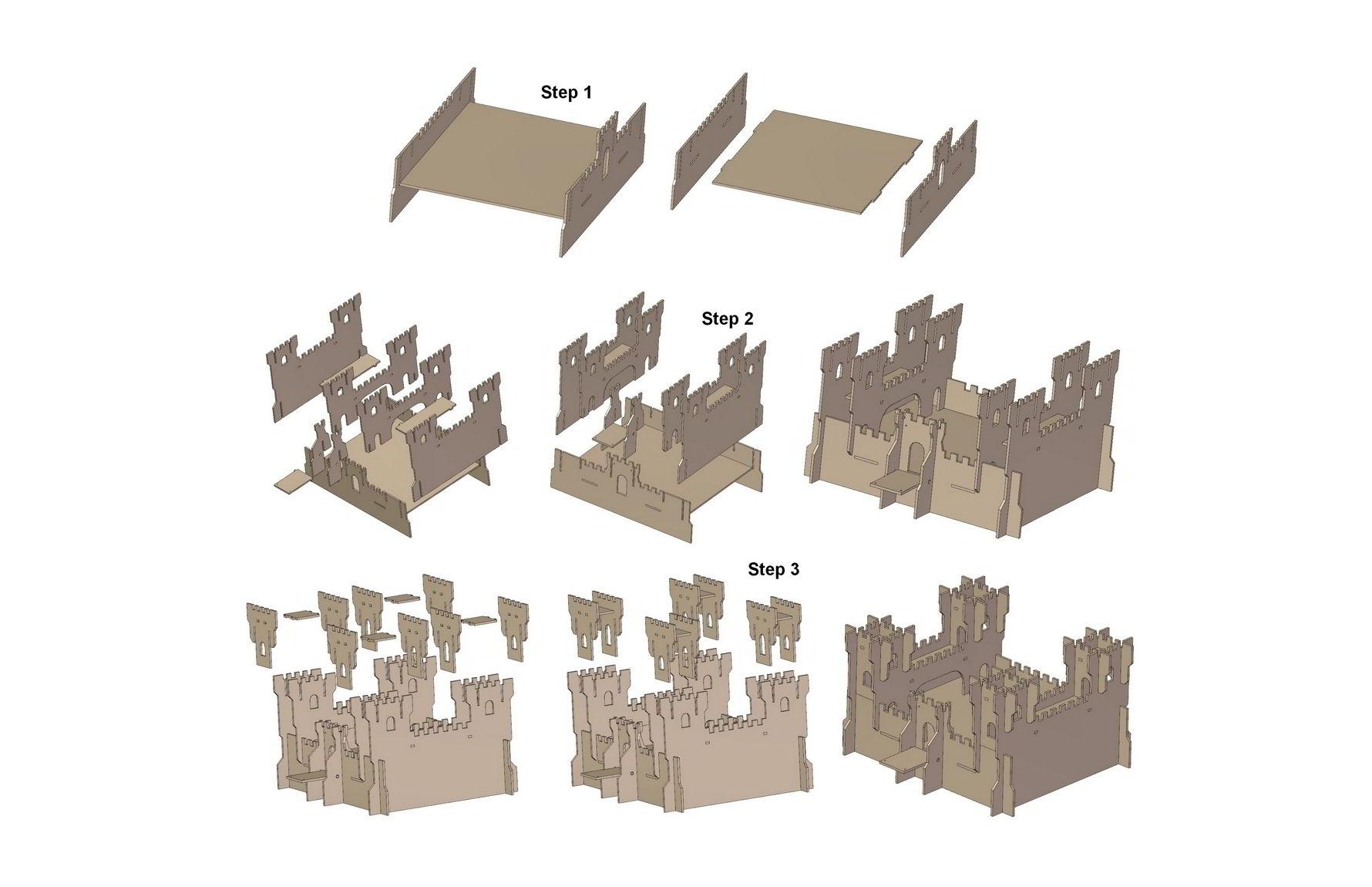 Toy castle plan for Castle plans build