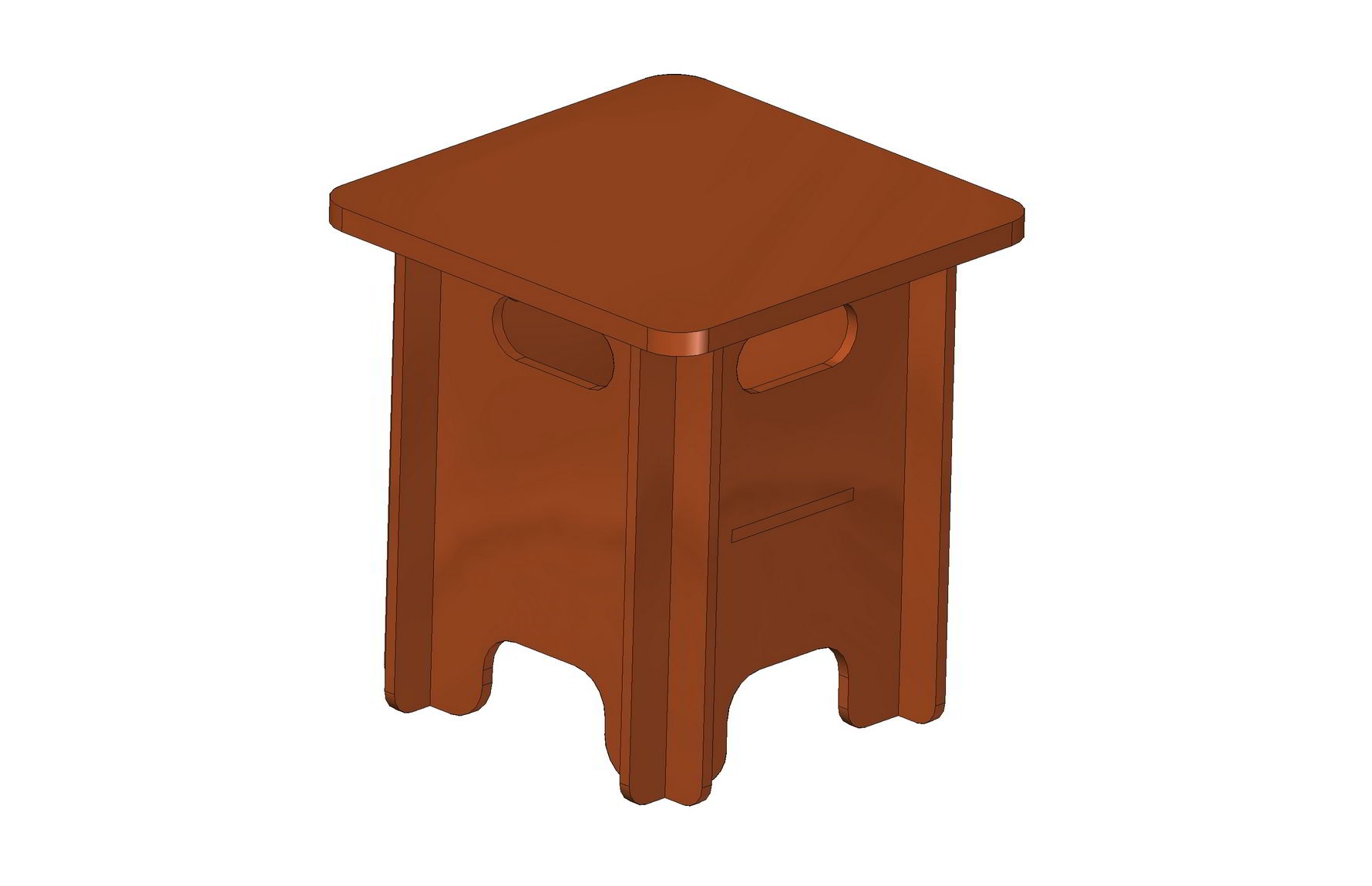 Collapsible Stool With Storage Compartment Plan