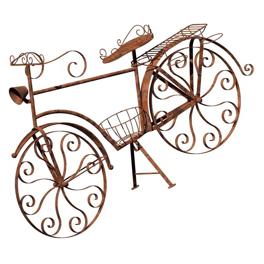 Garden bicycle plant holder plan - Wrought iron bicycle wall art ...