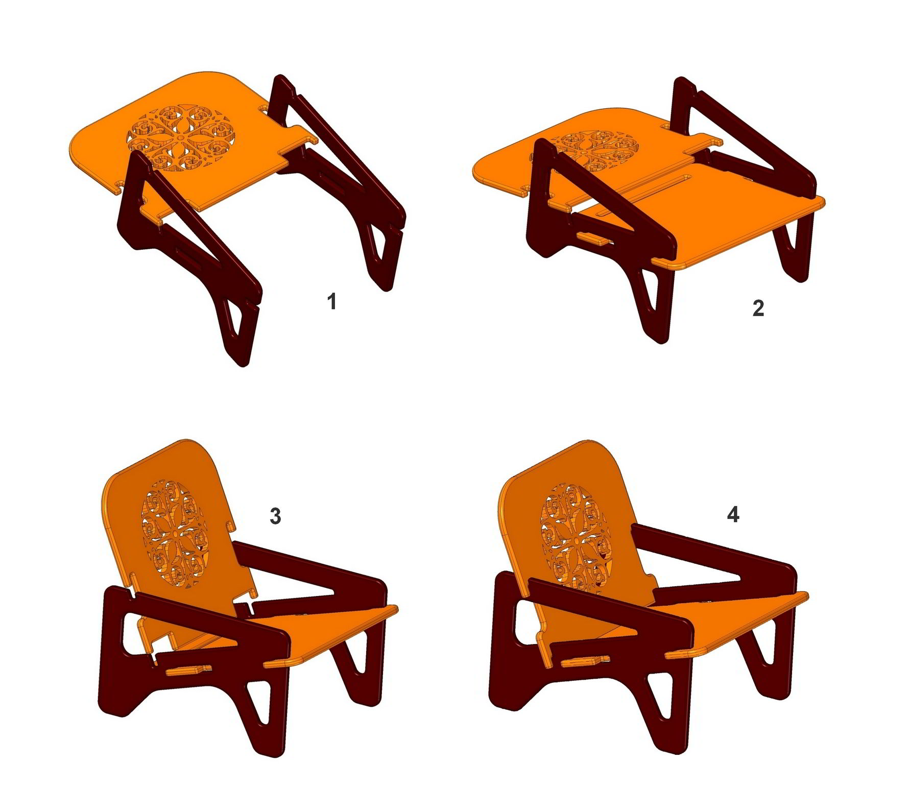 How To Assemble Knock Down Chair