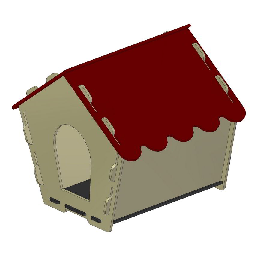 dog houses plans. knock-down dog house plan houses plans