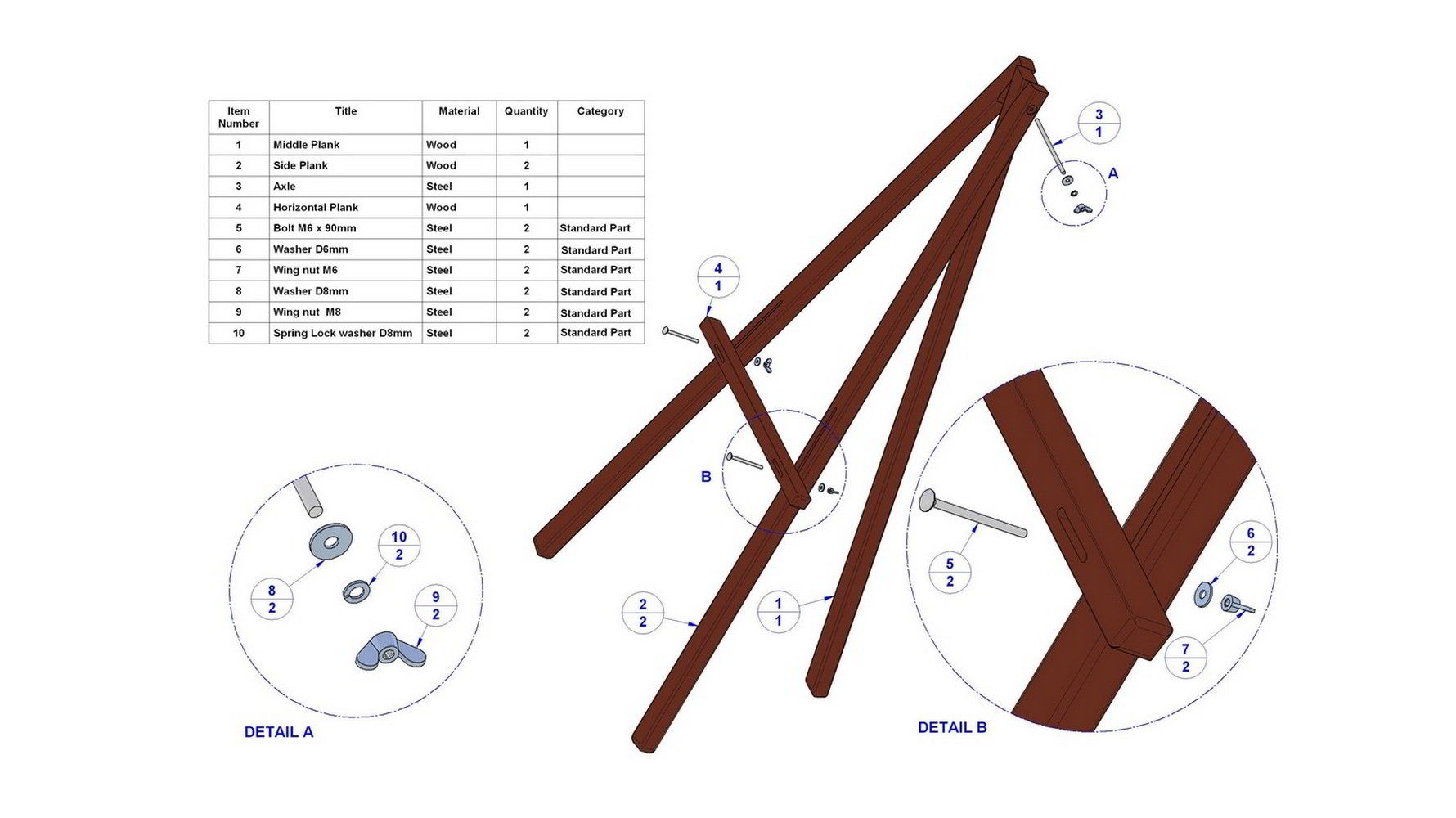 make wood easel plans