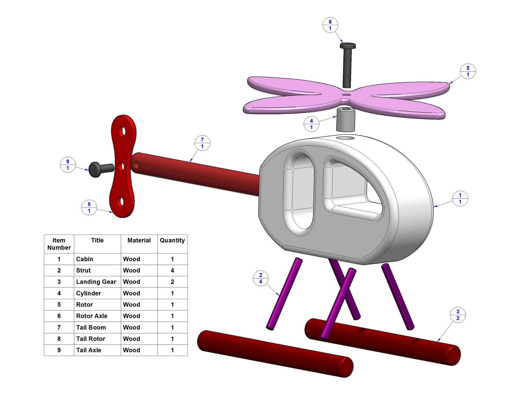 Toy Helicopter Plans Free