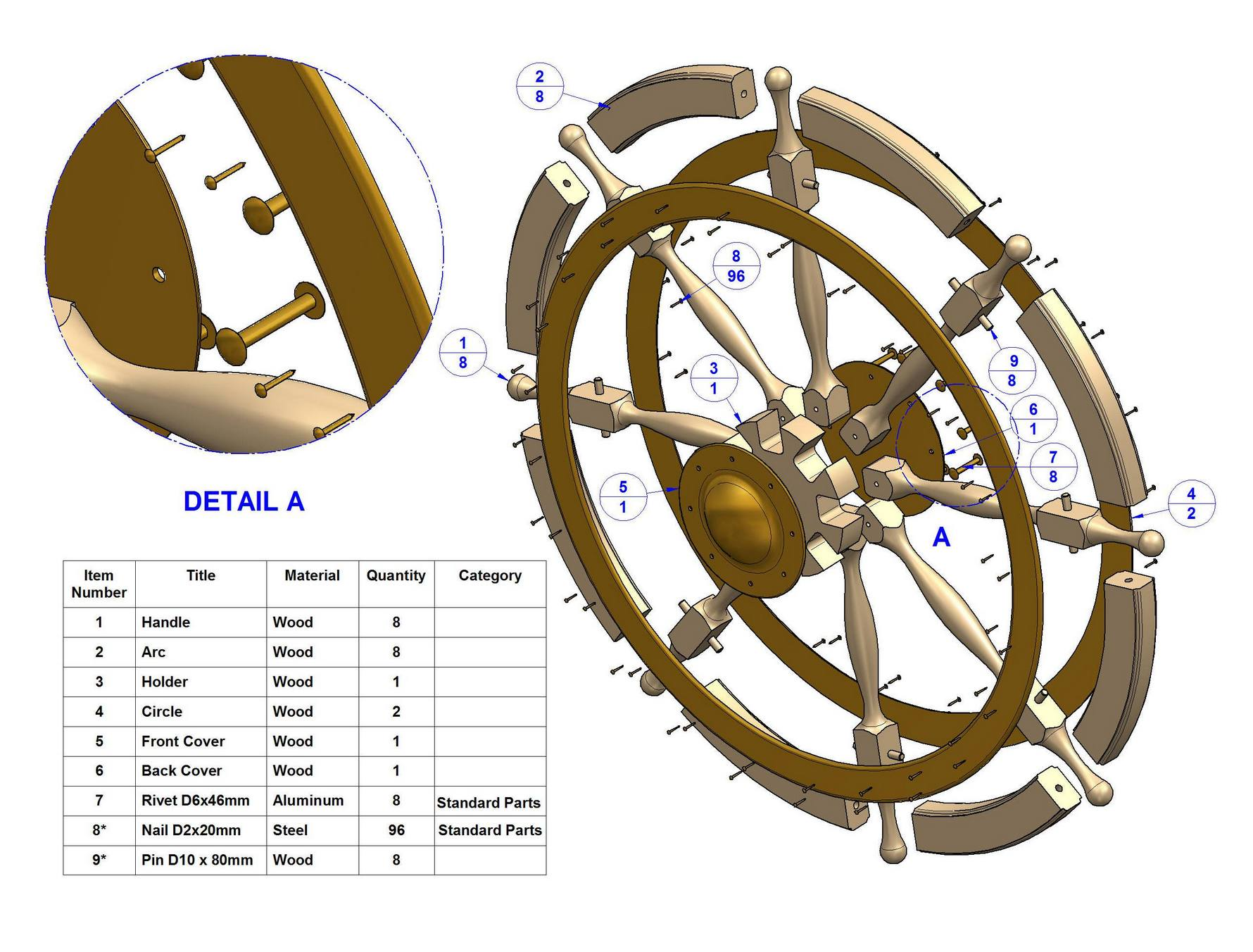Ship Wheel Plan