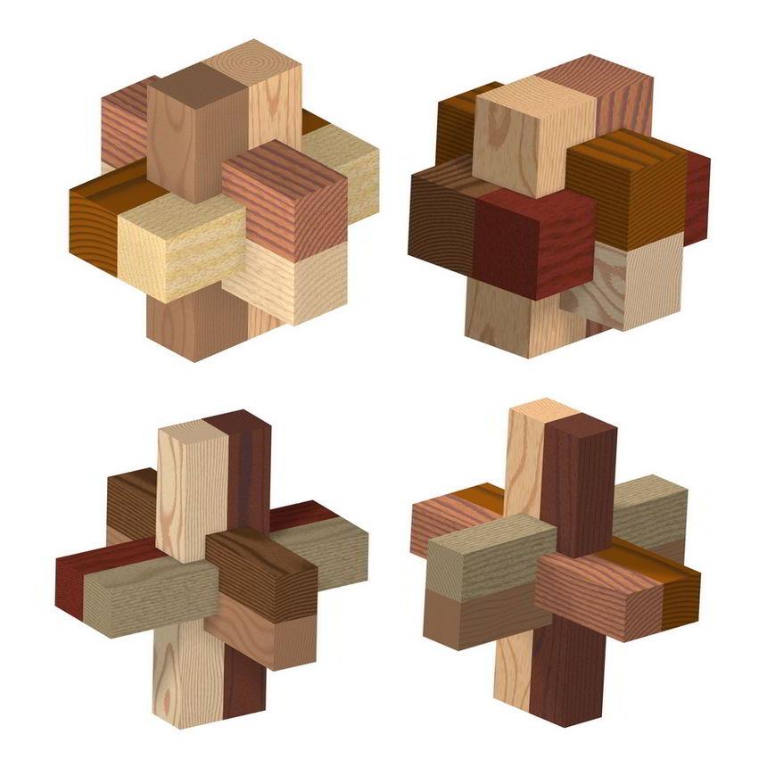 Six-piece Burr Puzzles