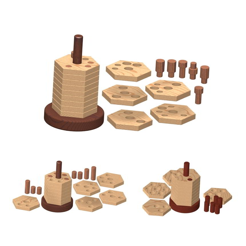 3d Wooden Puzzles Plans Wooden Stacker Puzzle Plan