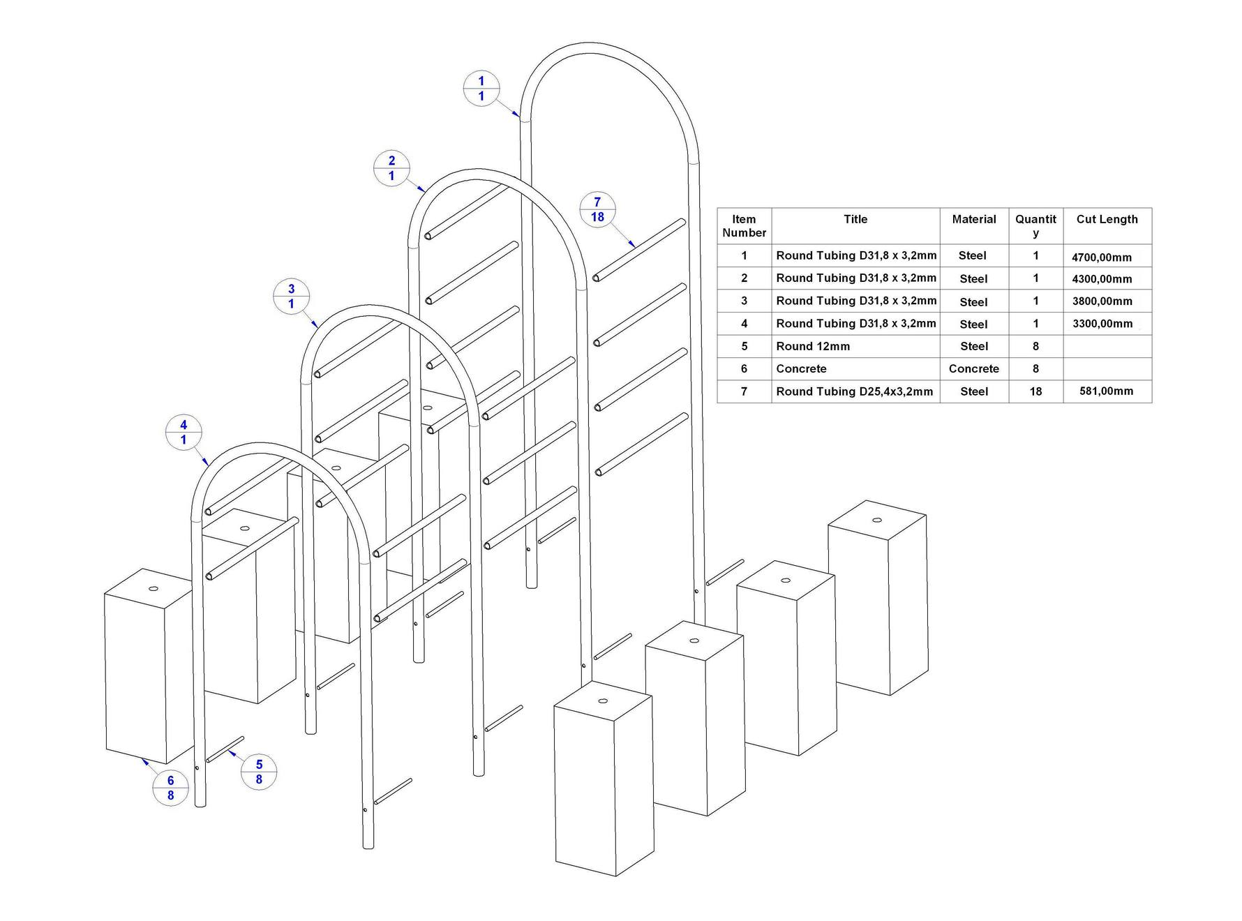 Tunnel Climber Playground Structure Plan
