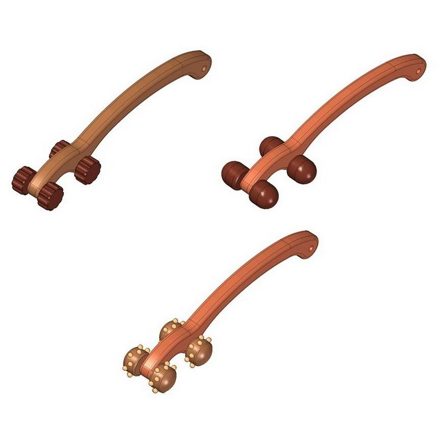 Wooden back massager