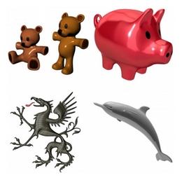 Animal 3D models