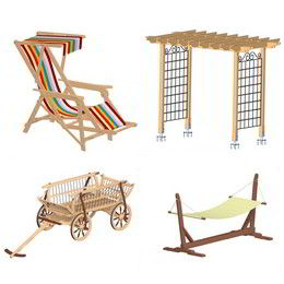 Garden furniture and accessories plans