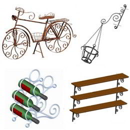 Wrought iron furniture and accessories plans