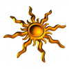 Decorative sun 3D model