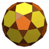 Rectified truncated icosahedron 3D model