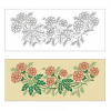 Vectorized flowers artwork