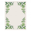 Green leaves border vector