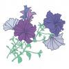 Vectorized petunia pattern