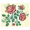 Vectorized rose patterm
