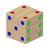 Dice 3d wooden puzzle plan
