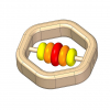 Wooden ring baby rattle toy plan